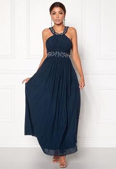 Chiara Forthi Noemi Open-back Prom Gown Dark blue / Silver Bubbleroom.fi