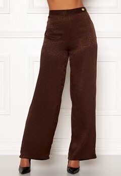 Chiara Forthi Noemi Sleek Pants Brown Bubbleroom.fi