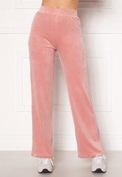 Chiara Forthi Nova velvet pants Dusty pink Bubbleroom.fi