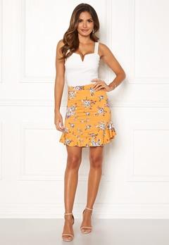 Chiara Forthi Nunzia frill jersey skirt  Yellow / Floral Bubbleroom.fi
