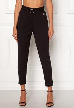 Chiara Forthi Paperbag Belt Pantaloni Black Bubbleroom.fi