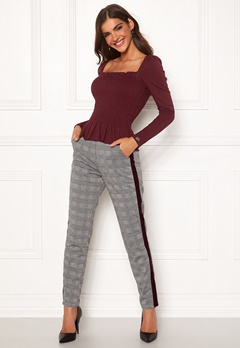 Chiara Forthi Pietra pants Grey / Checked Bubbleroom.fi