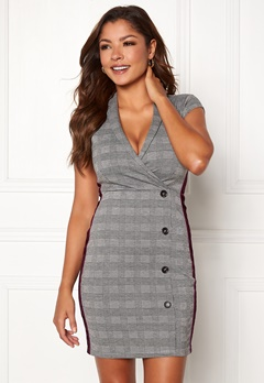 Chiara Forthi Pietra suit dress Grey / Wine-red / Checked Bubbleroom.fi