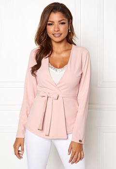Chiara Forthi Pontia tie jacket Pink Bubbleroom.fi