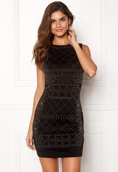 Chiara Forthi Portia studded dress Black / Gold Bubbleroom.fi