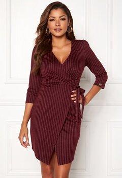 Chiara Forthi Portia suit dress Wine-red / Striped Bubbleroom.fi