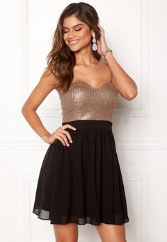 Chiara Forthi Reese sequin dress Black / Rose gold Bubbleroom.fi