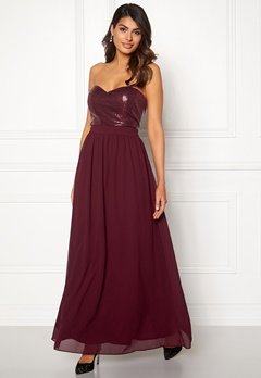Chiara Forthi Reese sequin gown Wine-red Bubbleroom.fi