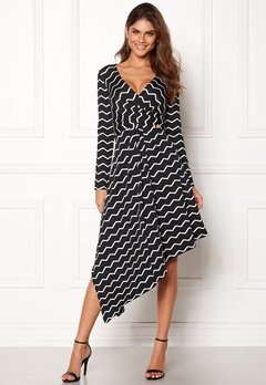 Chiara Forthi Rielle dress Black / Offwhite Bubbleroom.fi