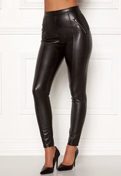 Chiara Forthi Rivalta faux leather pants Black Bubbleroom.fi