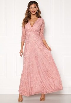 Chiara Forthi Riveria Lace Gown Dusty pink Bubbleroom.fi