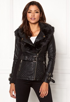 Chiara Forthi Roma Fake Leather Jacket Black Bubbleroom.fi abc42c43cc