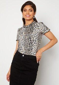Chiara Forthi Romea ss puff top Leopard Bubbleroom.fi