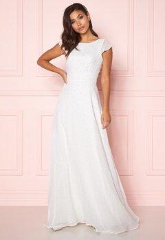 Chiara Forthi Rosanne pearl gown White Bubbleroom.fi