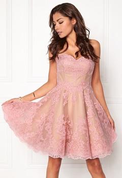 Chiara Forthi Rosetta Prom Gown Pink Bubbleroom.fi