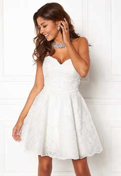 Chiara Forthi Rosetta Prom Gown White Bubbleroom.fi