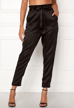 Chiara Forthi Sania paperbag pants Black Bubbleroom.fi
