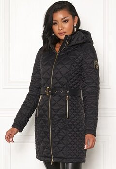 Chiara Forthi Sarraceno Quilted Fur Jacket Black Bubbleroom.fi