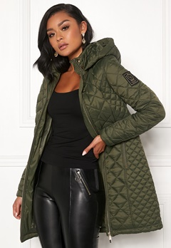 Chiara Forthi Sarraceno Quilted Jacket Khaki green Bubbleroom.fi
