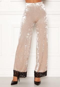 Chiara Forthi Sentiera Lace Pants Light beige Bubbleroom.fi