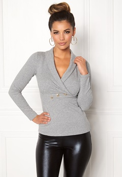 Chiara Forthi Shawl Collar Bodycon Sweatshirt Bubbleroom.fi