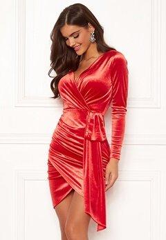 Chiara Forthi Snapshot Drape Dress Red bubbleroom.fi