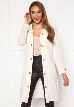 Chiara Forthi Sottovalle Jersey Coat Offwhite Bubbleroom.fi