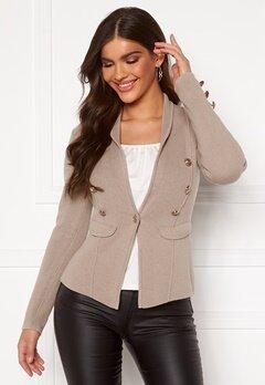 Chiara Forthi Stella heavy knit blazer Grey-beige Bubbleroom.fi