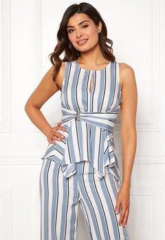 Chiara Forthi Suzette Wrap Top Striped / Offwhite / Blue Bubbleroom.fi