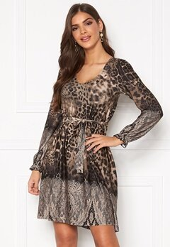 Chiara Forthi Swing v-neck dress Leopard / Patterned Bubbleroom.fi