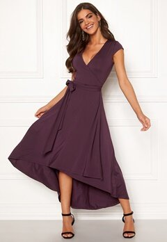 Chiara Forthi Tara Highlow Dress Plum Bubbleroom.fi