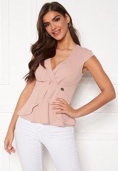 Chiara Forthi Tiziana cap sleeve wrap top Dusty pink Bubbleroom.fi