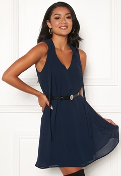 Chiara Forthi Valencia tie dress Navy Bubbleroom.fi