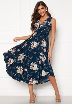 Chiara Forthi Valeria Dress Navy / Floral Bubbleroom.fi