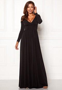 Chiara Forthi Vanessa L/S Gown Black Bubbleroom.fi