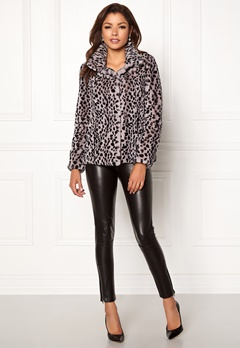 Chiara Forthi Venezia Faux Fur Jacket Leopard Bubbleroom.fi