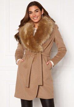Chiara Forthi Verona Coat Camel Bubbleroom.fi