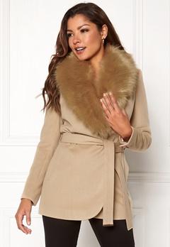 Chiara Forthi Verona Short Coat Camel Bubbleroom.fi