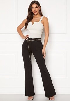 Chiara Forthi Veronique chain belt pants Black Bubbleroom.fi