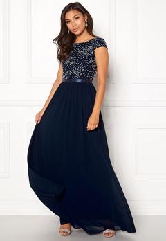 Chiara Forthi Viviere Sparkling Gown Midnight blue Bubbleroom.fi