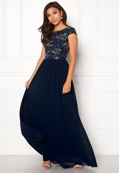 Chiara Forthi Viviere Sparkling Gown Midnight blue Bubbleroom.fi