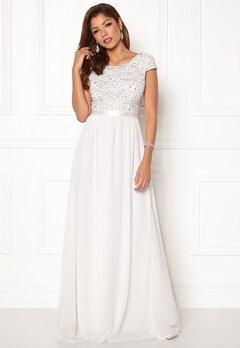 Chiara Forthi Viviere Sparkling Gown White Bubbleroom.fi
