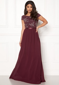 Chiara Forthi Viviere Sparkling Gown Wine-red Bubbleroom.fi