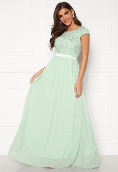 Chiara Forthi Viviere Sparkling Gown Light green Bubbleroom.fi