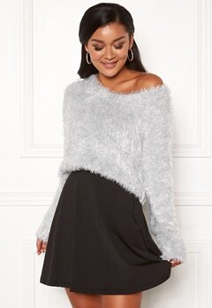 Chiara Forthi Woop sparkle sweater Silver Bubbleroom.fi