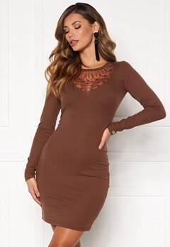 Chiara Forthi Irina rib dress Brown Bubbleroom.fi