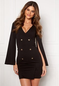 Chiara Forthi Hailey Cape Blazer Dress Black Bubbleroom.fi
