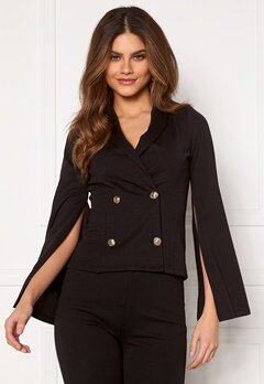 Chiara Forthi Hailey Cape Blazer Black Bubbleroom.fi
