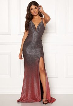 Christian Koehlert Dream Glitter Dress Glitter Grey & Red Bubbleroom.fi