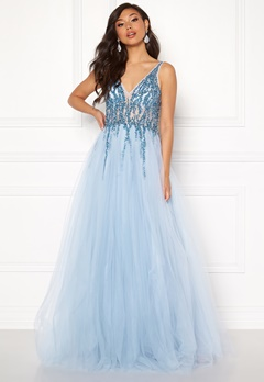Christian Koehlert Sparkling Tulle Dream Dress Aqua Blue Bubbleroom.fi